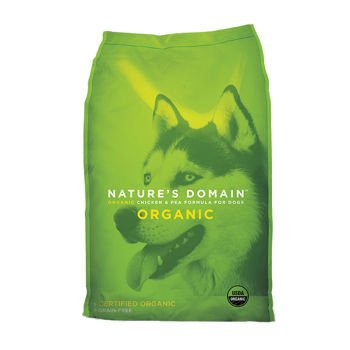 Kirkland Signature Nature's Domain USDA Organic Chicken & Pea Formula Dry Dog Food 30lb Bag