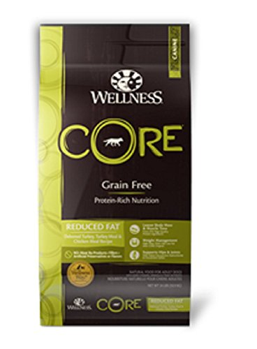 Wellness CORE Reduced Fat Dry Dog Food, 24-Pound Bag
