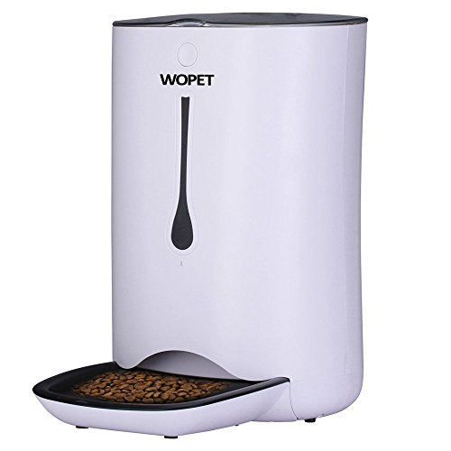 WOPET Automatic Pet Feeder Food Dispenser for Cats and Dogs-Features: Distribution Alarms, Portion Control, Voice...