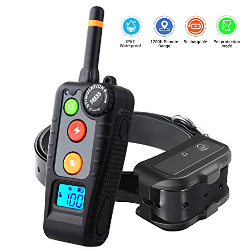 HOLDOG Rechargeable Dog Training Collar with 3 Training Modes, Beep, Vibration and Shock, 100% Waterproof Dog Shock...