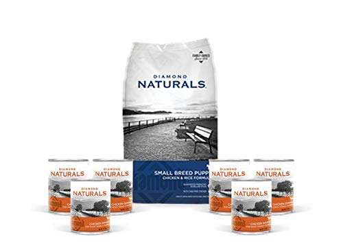Diamond Natural Puppy Food Small Breed - 6 lb Bag Plus 6 Cans Chicken Dinner 1 Can Topper 1 Dog Toy