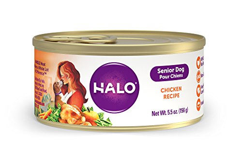 Halo Natural Wet Dog Food, Senior Chicken Recipe, 5.5-Ounce Can (Pack Of 12)