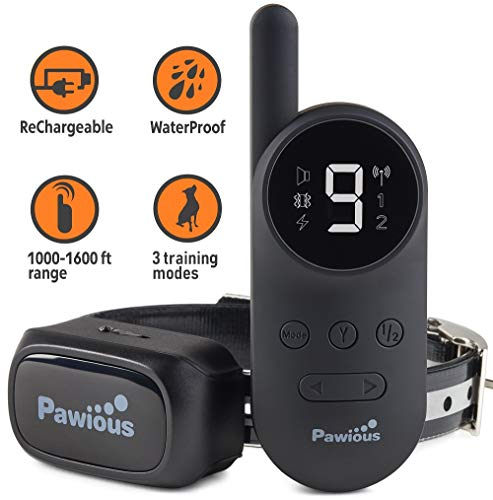 Pawious Dog Training Collar with Remote [Newest] - Rechargeable Dog Shock Collar for Small Medium and Large Dogs | Long...