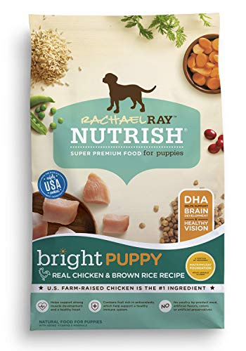 Rachael Ray Nutrish Bright Puppy Natural Dry Dog Food, Real Chicken & Brown Rice Recipe, 6 Lbs