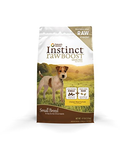 Instinct Raw Boost Small Breed Grain Free Chicken Meal Formula Natural Dry Dog Food By Nature'S Variety, 4.1 Lb. Bag