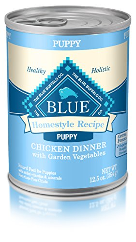 Blue Buffalo Homestyle Recipe Natural Puppy Wet Dog Food, Chicken 12.5-Oz Can (Pack Of 12)