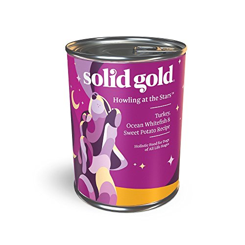 Solid Gold Wet Dog Food; Howling At The Stars With Real Turkey, Fish & Sweet Potato, 12Ct/13.2Oz Can
