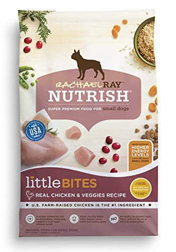 Rachael Ray Nutrish Little Bites Real Chicken & Veggies Recipe Dry Dog Food, 14 Pounds