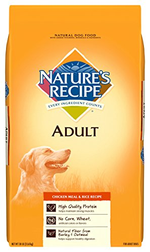 Nature's Recipe Chicken Meal & Rice Recipe Dry Dog Food for Adult Dogs, 30 Pounds