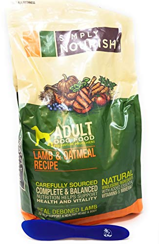 Simply Nourish Adult Dry Dog Food - Lamb and Oatmeal, 6lbs and Especiales Cosas Mixing Spatula