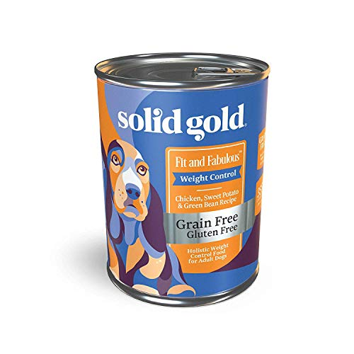 Solid Gold - Fit and Fabulous with Chicken - Grain Free Weight Control Wet Dog Food - 13.2-oz can 6 Count