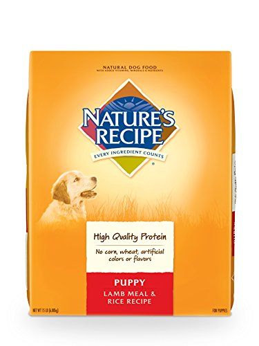 Nature's Recipe Lamb Meal & Rice Recipe Dry Puppy Food, 15 Pounds