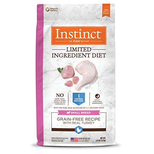 Instinct Limited Ingredient Diet Small Breed Grain Free Recipe with Real Turkey Natural Dry Dog Food by Nature's...