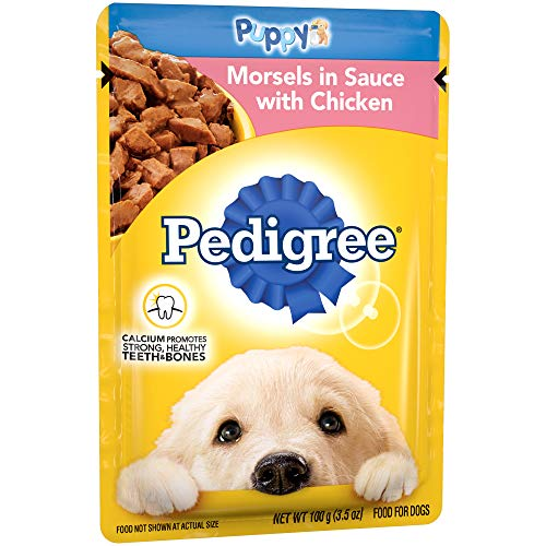 Pedigree Choice Cuts Puppy Morsels In Sauce With Chicken Wet Dog Food, (16) 3.5 Oz. Pouches