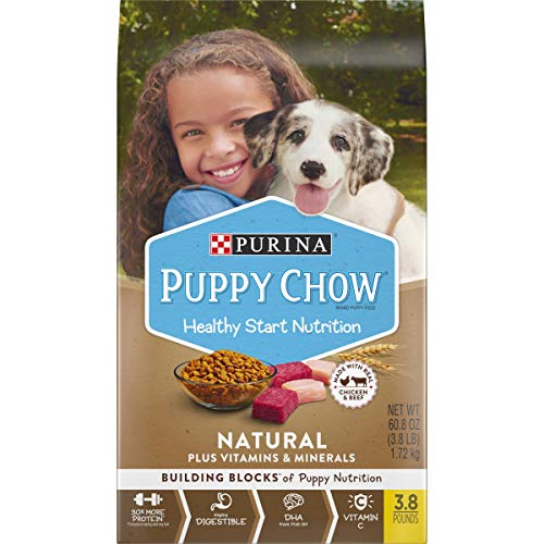 Purina Puppy Chow Natural With Real Chicken & Beef Plus Vitamins & Minerals Dry Puppy Food - 30 Lb. Bag
