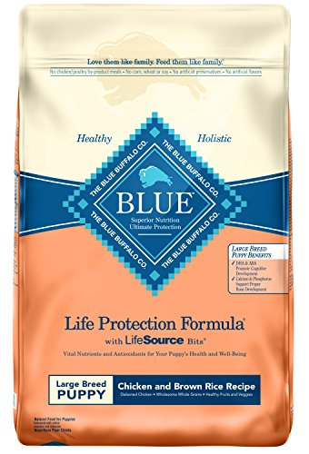 Blue Buffalo Life Protection Formula Large Breed Puppy Dog Food - Natural Dry Dog Food for Puppies - Chicken and Brown...