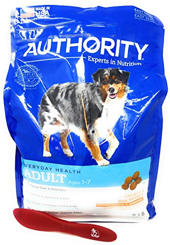 Authority Adult Dry Dog Food (Chicken and Rice) 6lbs and Especiales Cosas Mixing Spatula