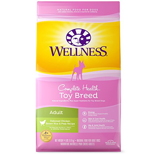 Wellness Complete Health Natural Dry Toy Breed Dog Food, Chicken & Rice, 4-Pound Bag