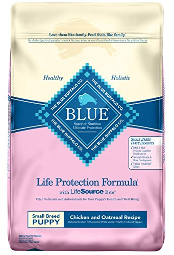 Blue Buffalo Life Protection Formula Small Breed Puppy Dog Food - Natural Dry Dog Food for Puppies - Chicken and Oatmeal...