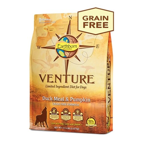 Earthborn Holistic Venture Duck Meal And Pumpkin Limited Ingredient Diet Grain Free Dry Dog Food, 12.5 Lb.