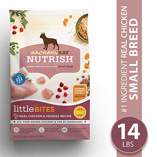 Rachael Ray Nutrish Little Bites Small Breed Natural Premium Dry Dog Food, Real Chicken & Veggies Recipe, 14 Lbs