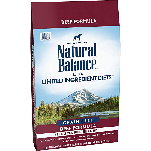 Natural Balance Limited Ingredient Diets Dry Dog Food, Beef Formula, Grain Free, 24 lb