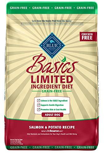 Blue Buffalo Basics Limited Ingredient Diet, Grain Free Natural Adult Dry Dog Food, Salmon & Potato 22-lb
