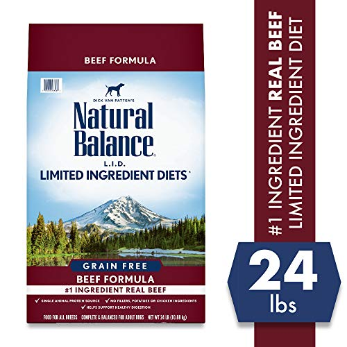 Natural Balance Limited Ingredient Diets Beef Formula Dry Dog Food, 24 Pounds, Grain Free