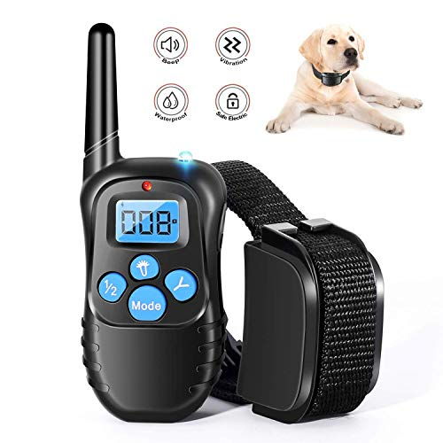 Dog Training Collar Full Waterproof Rechargeable Remote Dog Training Shock Collar with Vibration, Shock, Tone and...