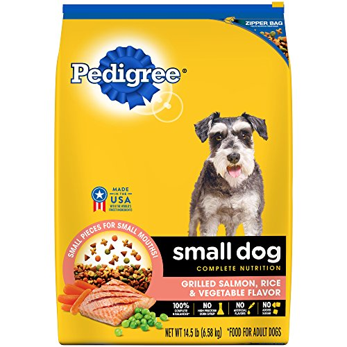 Pedigree Small Dog Adult Complete Nutrition Grilled Salmon, Rice And Vegetable Flavor Dry Dog Food; 100% Complete And...