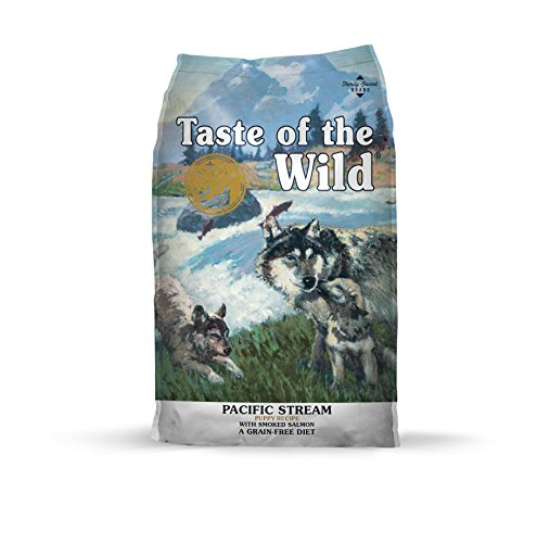 Taste of the Wild Grain Free High Protein Real Meat Recipe Pacific Stream Puppy Premium Dry Dog Food