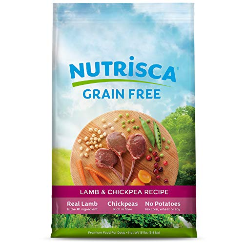 NUTRISCA Potato-Free Dry Dog Food for All Life Stages, Lamb Recipe, 15 lb.