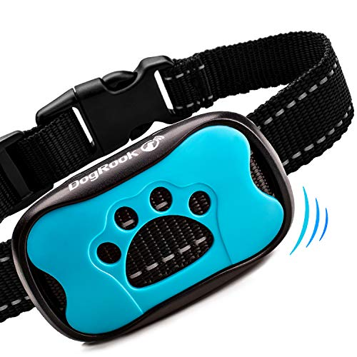 DogRook Dog Bark Collar- Humane Anti Barking Training Collar - Vibration No Shock Dog Collar - Stop Barking Collar for...