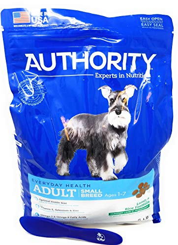 Authority Adult Small Breed Dry Dog Food (Lamb and Rice) 6lbs and Especiales Cosas Mixing Spatula
