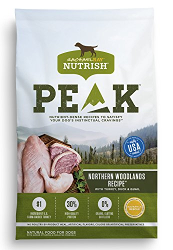 Rachael Ray Nutrish PEAK Natural Grain Free Dry Dog Food, Northern Woodlands  with Turkey, Duck & Quail, 12 lbs