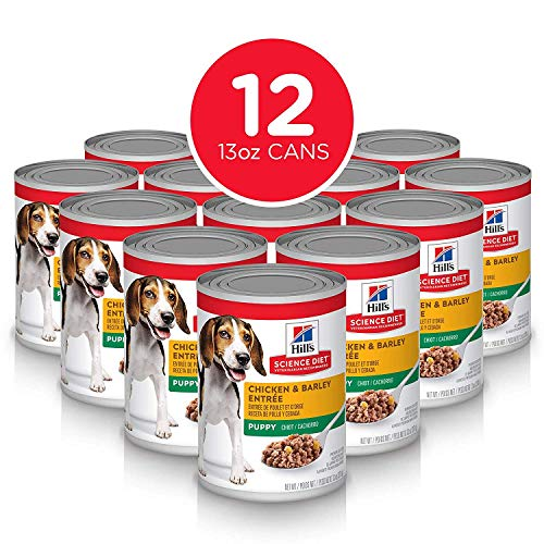Hill's Science Diet Wet Dog Food, Puppy, Chicken & Barley Recipe, 13 oz Cans, 12-pack
