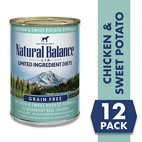Natural Balance Limited Ingredient Diets Chicken & Sweet Potato Formula Wet Dog Food, 13 Ounces (Pack of 12), Grain Free
