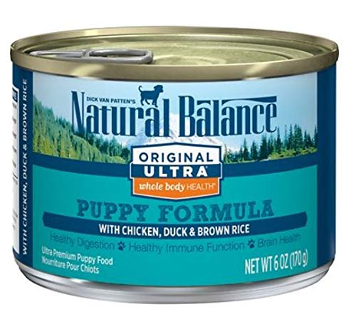 Natural Balance Puppy Formula Canned Wet Dog Food, Original Ultra Whole Body Health, Chicken, Duck & Brown Rice Formula,...
