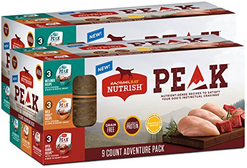Rachael Ray Nutrish PEAK Adventure Pack Wet Dog Food, 3.5 Ounce Tubs (18 Count)