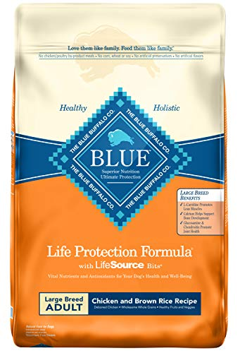 Blue Buffalo Life Protection Formula Large Breed Dog Food - Natural Dry Dog Food for Adult Dogs - Chicken and Brown Rice...