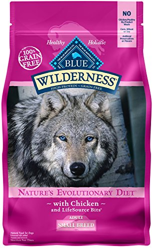 Blue Buffalo Wilderness High Protein Grain Free, Natural Adult Small Breed Dry Dog Food, Chicken 11-lb