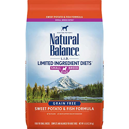 Natural Balance Small Breed Bites L.I.D. Limited Ingredient Diets Dry Dog Food, Grain Free, Sweet Potato & Fish Formula,...