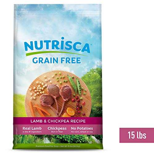 Nutrisca Dog Food, Lamb and Chickpea, 15-Pound Package