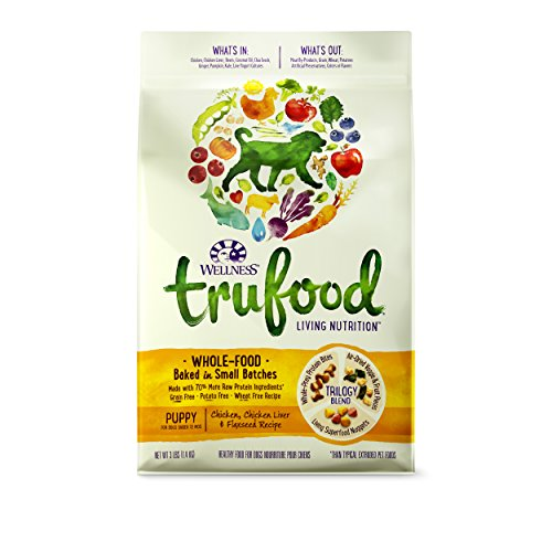 Wellness Trufood Baked Blends Natural Grain Free Dry Raw Puppy Food, Chicken, 3-Pound Bag
