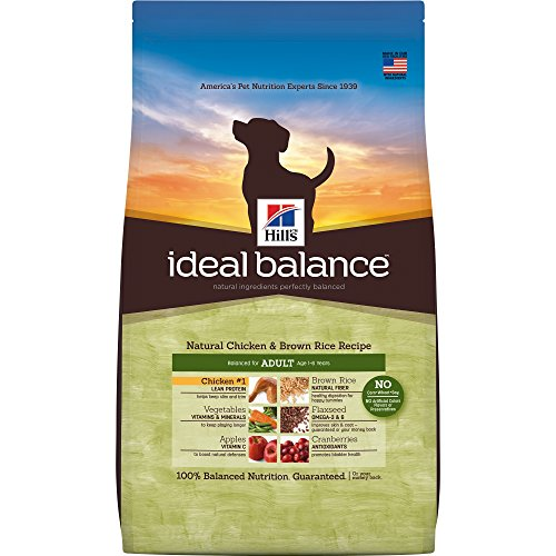 Hill'S Ideal Balance Adult Natural Dog Food, Chicken & Brown Rice Recipe Dry Dog Food, 30 Lb Bag