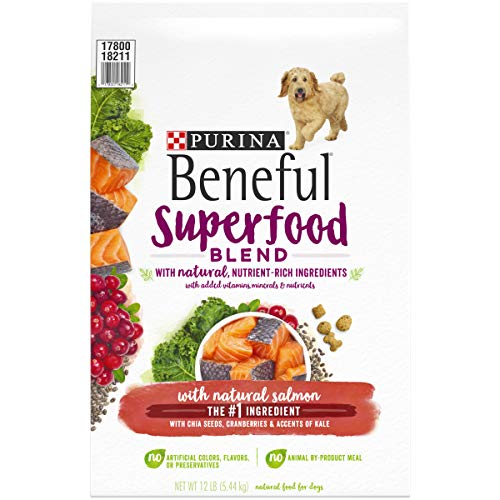 Purina Beneful Natural Dry Dog Food, Superfood Blend with Salmon - 12 lb. Bag