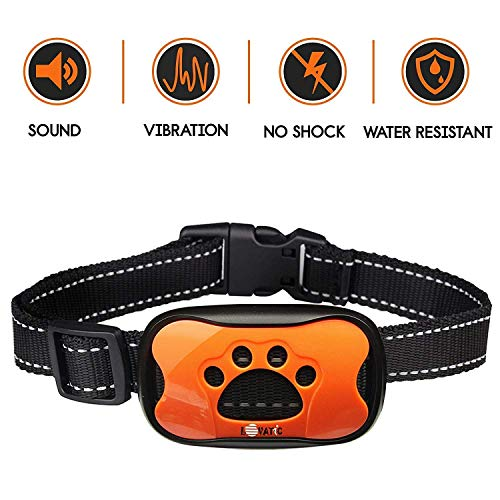 LOVATIC Dog Bark Collar - No Shock Vibration and Sound Humane Training Device for Small Medium Large Dogs - 7 Levels...