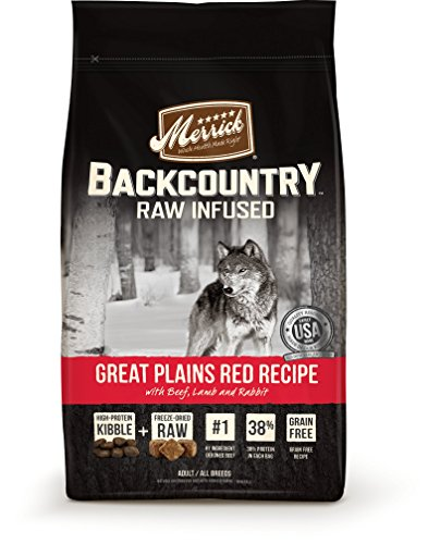 Merrick Backcountry Grain Free Raw Infused Great Plains Red Meat Dry Dog Food, 22 Lbs.