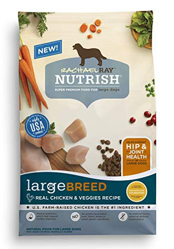 Rachael Ray Nutrish Large Breed Real Chicken & Veggies Recipe Dry Dog Food, 40 Pounds