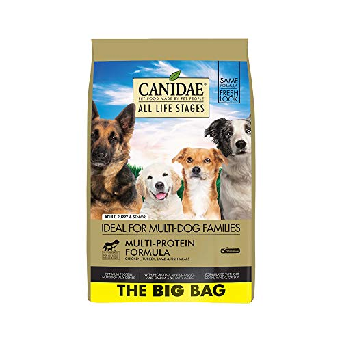 CANIDAEAll Life Stages Dog Dry Food Chicken, Turkey, Lamb & Fish Meals Formula 44lbs